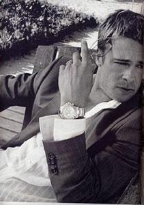 Brad Pitt wears Rolex Daytona watches