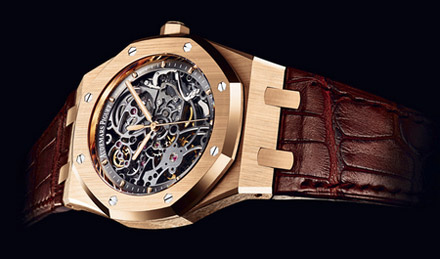 Audemars Piguet Royal Oak Skeleton 18-carat pink gold