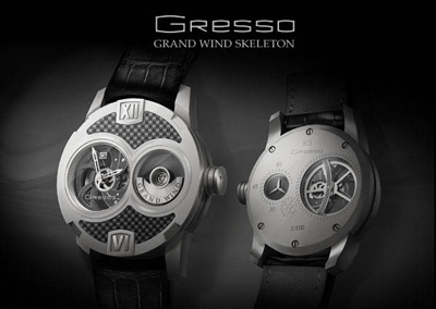 Grand Wind Skeleton Collection - Gresso Watch Debut