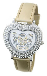 Hello Kitty Diamante Heart Kitty Watch
