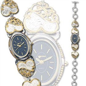 Montana Silversmiths Women's Scrolling Heart Watch