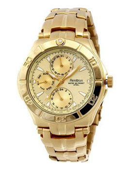 Armitron Men's Gold-Tone Sub-Dial Watch