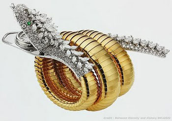 Elizabeth Taylor - Bulgari Serpenti bracelet-watch