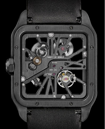 Cartier Santos Dumont Black Titanium watch