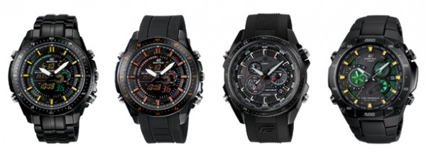 Casio Edifice 2010 new Black Label watches collection