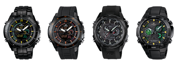 Casio Edifice 2010 New Black Label watches collection