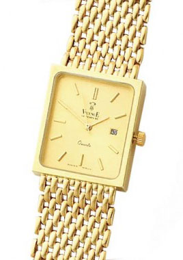 Yellow Gold Fancy Men's Watch