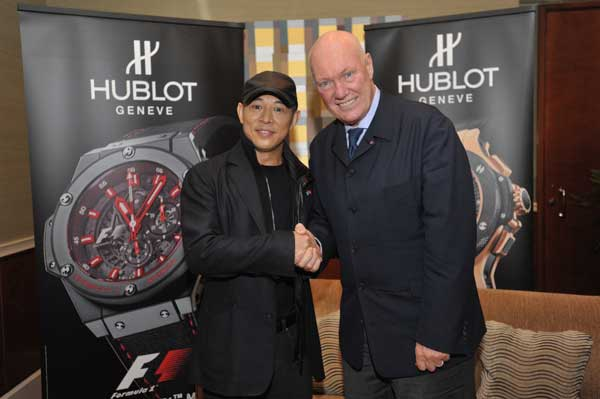 Jet Li and Hublot's CEO Jean-Claude Biver