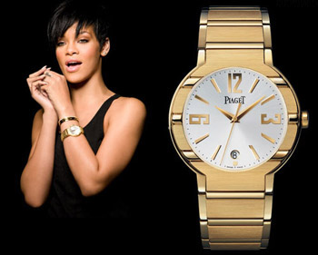 Rihanna s good taste for piaget polo for Celebrity watches female 2018
