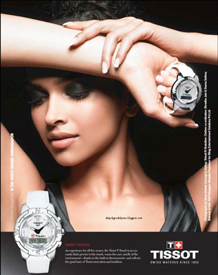 Deepika padukone and tissot watches for Celebrity tissot watches