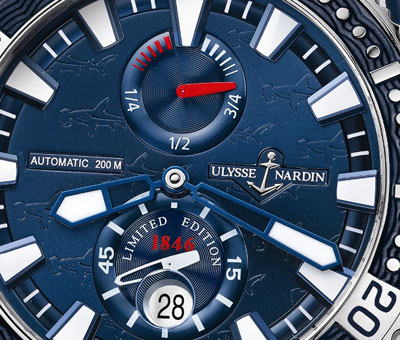 Ulysse Nardin Hammerhead Shark Titanium - dial