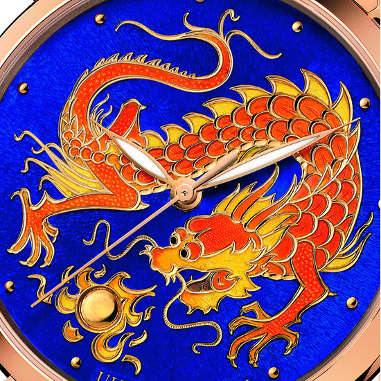 Ulysse Nardin Limited Edition Watch - Classico Enamel Champlevé Dragon