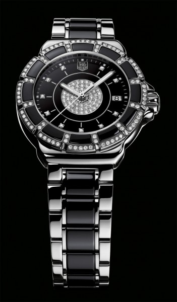 Tag Heuer Formula 1 Lady Steel & Ceramic Pavee Diamond Watch
