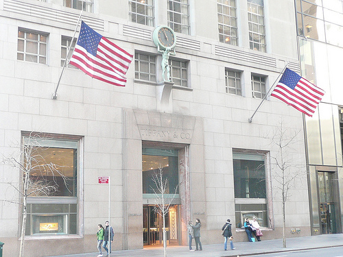 Tiffany & Co 5th Avenue boutique in Manhattan