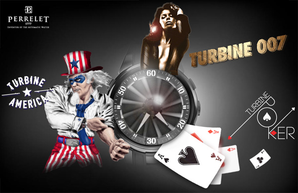 Perrelet Turbine watches: Turbine Poker, Turbine America and Turbine 007