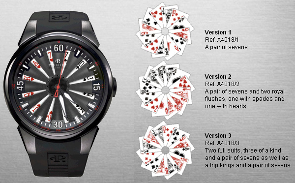 Perrelet Turbine Poker watch versions
