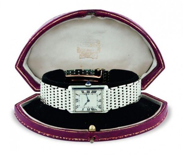 Vintage Louis Cartier Tank Platinum watch (1929)