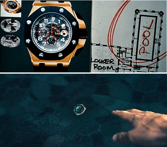 Watches in movies: Mechanic Audemars Piguet Royal Oak Alinghi