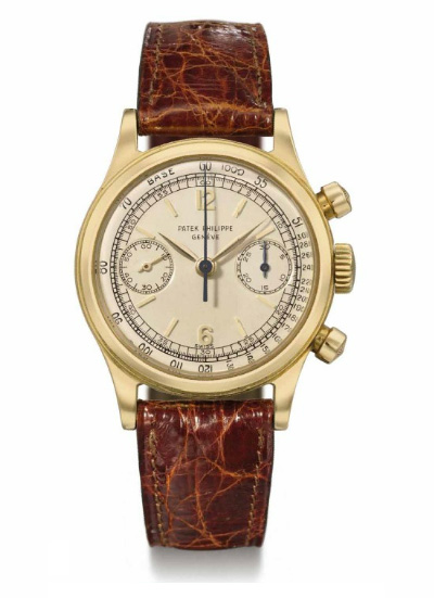 Patek Philippe 18K gold chronograph wristwatch (1955) ref-1463