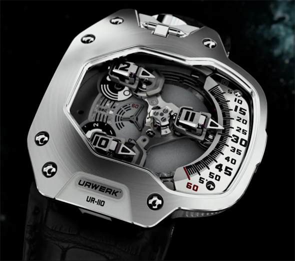 Urwerk released a new futuristic watch the UR-110 ZrN Torpedo