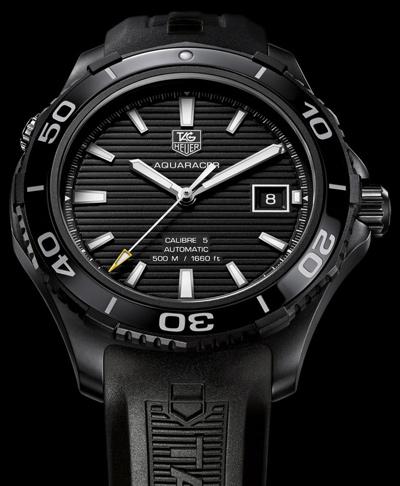 TAG-Heuer-Ceramic-Aquaracer-500M-Titnaium-Black