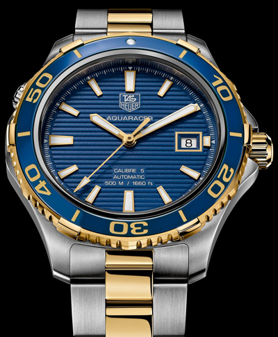 TAG-Heuer-Ceramic-Aquaracer-500M-blue-gold
