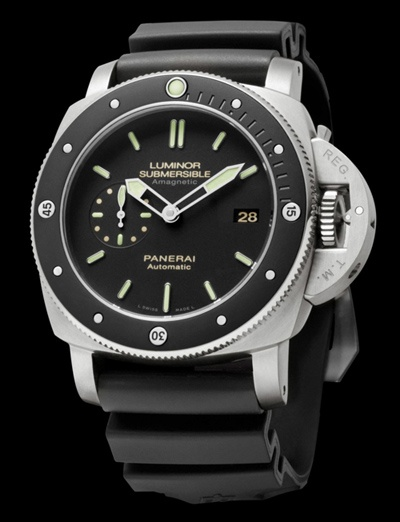 Panerai Luminor Submersible Amagnetic 3 Days Automatic Titanio - FaceSide