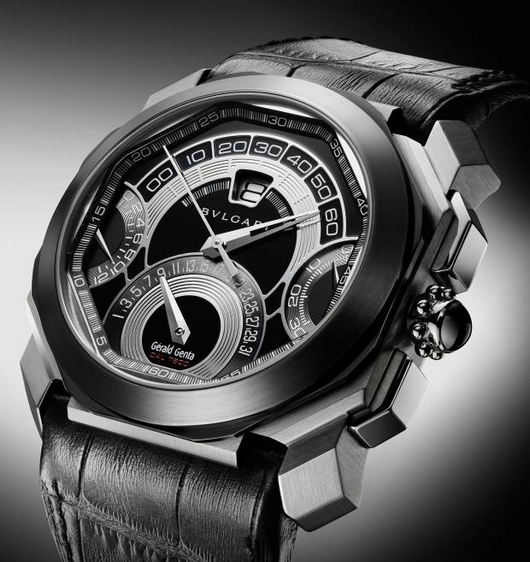 Baselworld 2011 Preview - Bulgari Gerald Genta Octo Quadri-Retro Chronograph