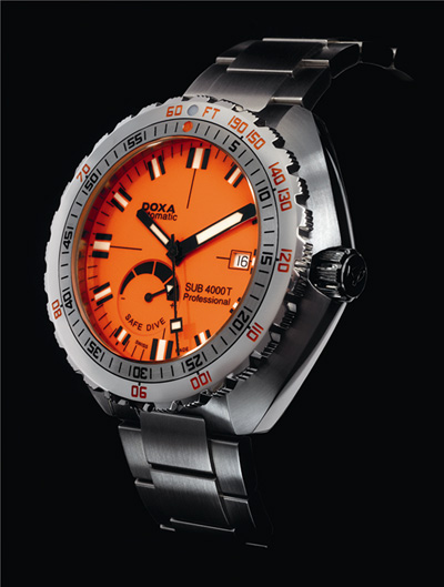 Doxa dive watch Professional - SUB 4000T at Baselworld 2011