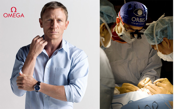Omega and Daniel Craig will help Orbis