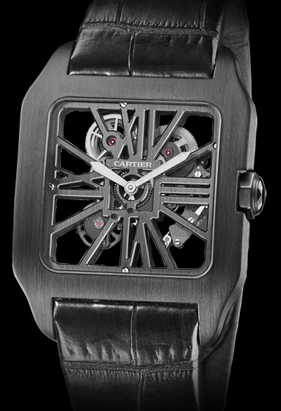 Cartier Santos Dumont Black Titanium with Carbon Skeleton at SIHH 2011