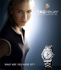 Maria Sharapova: Court Fashion, TAG Heuer Sunglasses and Watches
