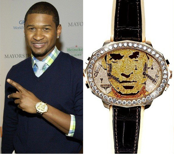 Tiret made a custom watch for Usher for $250,000