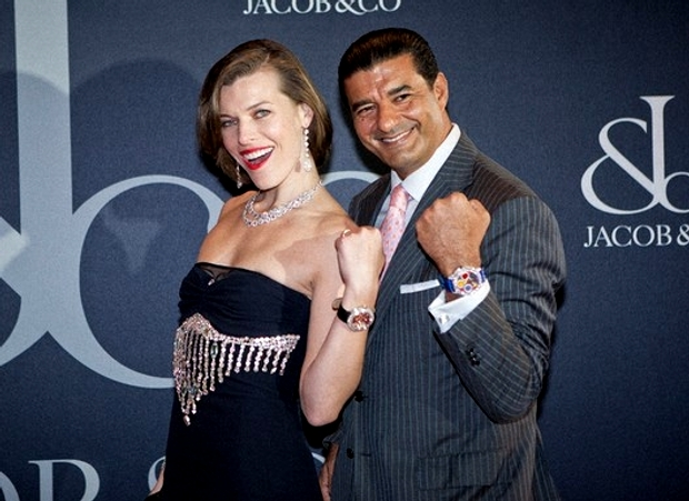 Milla Jovovich is a new face of Jacob and Co.