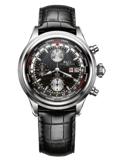 BALL watch Trainmaster with Worldtime Chronograph